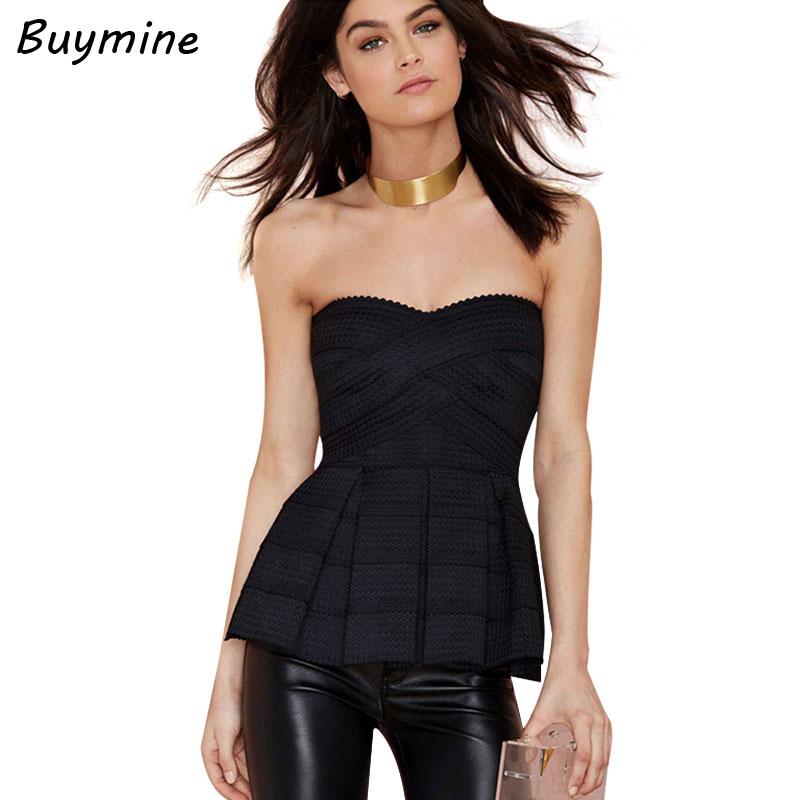 385bbb1d9ac7a Fashion Nova Strapless Bra Top Women Skinny Bandeau Top Stretchy Slim Waist Sexy  Tube ...
