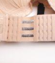 Closecret Women's 3 Rows 4 Hooks Bra Back Strap Extender(Set of 3,White, Nude and Black ) 3