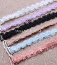 1cm New Wide Bra Straps Sexy Decorative Border Women's Bra Straps Baldric Adjustable Intimates Accessories 1 Pair Free shipping 1