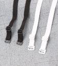 1 pair good quality black white 1cm width nylon elastic bra straps with metal clips 5