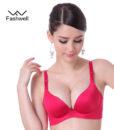 New Fashion Lady Solid Bras Women Push Up Bra Deep V Sexy Brassiere Underwear Seamless Wire Free Bras For Women 3