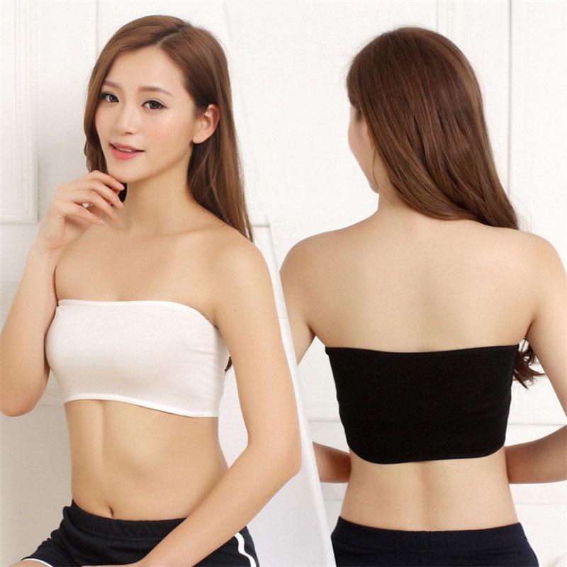 8d2b4aa48 LNRRABC One Size Sexy Women Tube Tops Bandeau Thin Safety Crop Top Bra  Underwear Anti Emptied