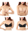 100 pcs Super Breathable Self Adhesive Strapless Bandage Stick Butterfly Wing Bra Silicone Push Up Bra Drawstring Invisible Bra 3