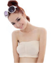 Sexy Women Ladies Strapless Boob Tube Top short design Padded Full Cup all-match Bandeau Bra Underwear 5 Colors seamless basic 2