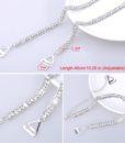 Closecret Women's Dense Rhinestone Bra Straps for Tops,Dress(Silver, 1 Pairs) 2