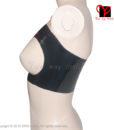 Sexy Black Latex Tube Top Bra Rubber bust Lingerie Gummi bikini Open breasts underclothes crop top bustier breast plus size XXXL 2