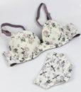 XIUSHIREN Beach Intimates Sexy Bra Briefs 36BC 38BC 40BC 42BC Lace Push Up Bra Set Women Underwear Girl Floral Brassiere DE0040 2